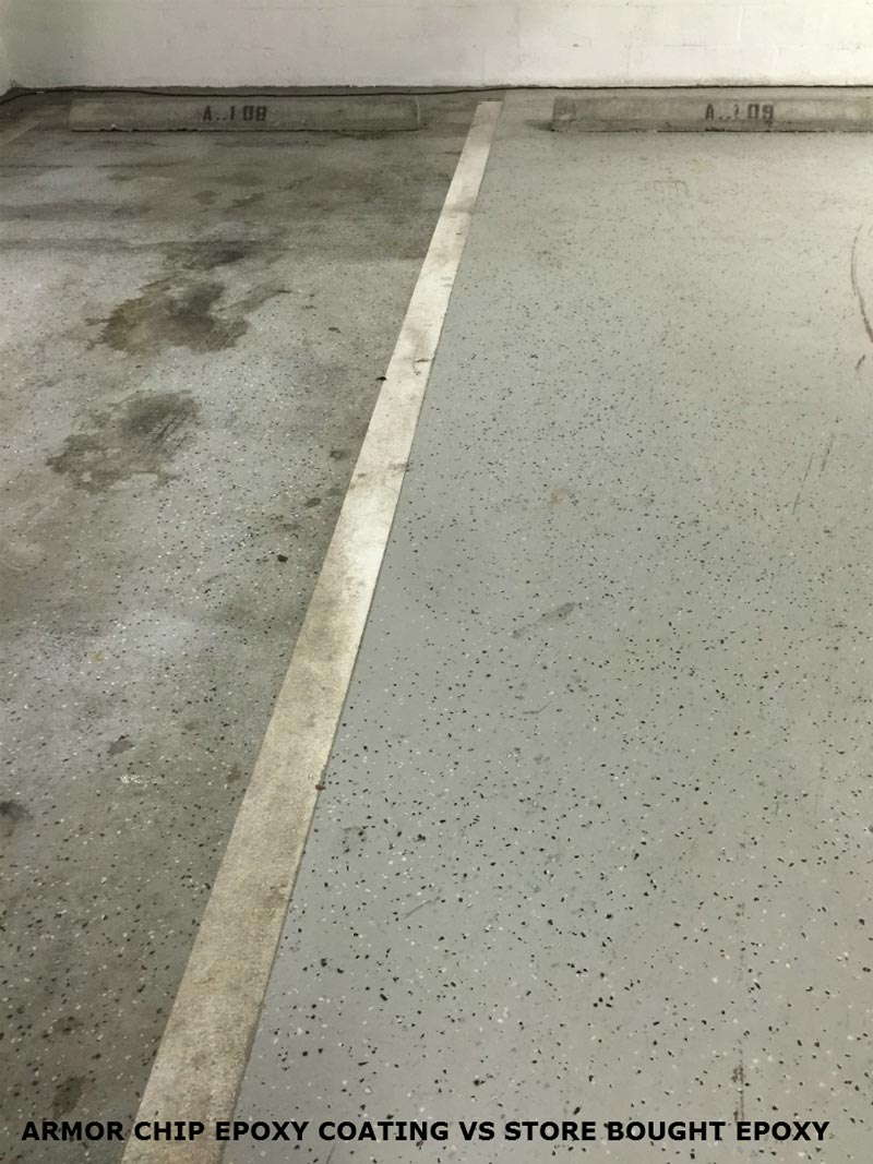 Why armorgarage epoxy floors are the best garage epoxy flooring - Armorgarage Garage Flooring Epoxy Vs Standard Epoxy
