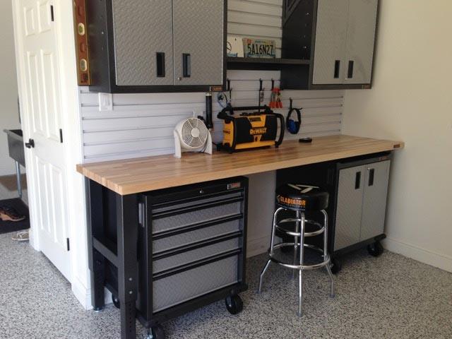 Armor Granite Garage floor epoxy Pattern 1