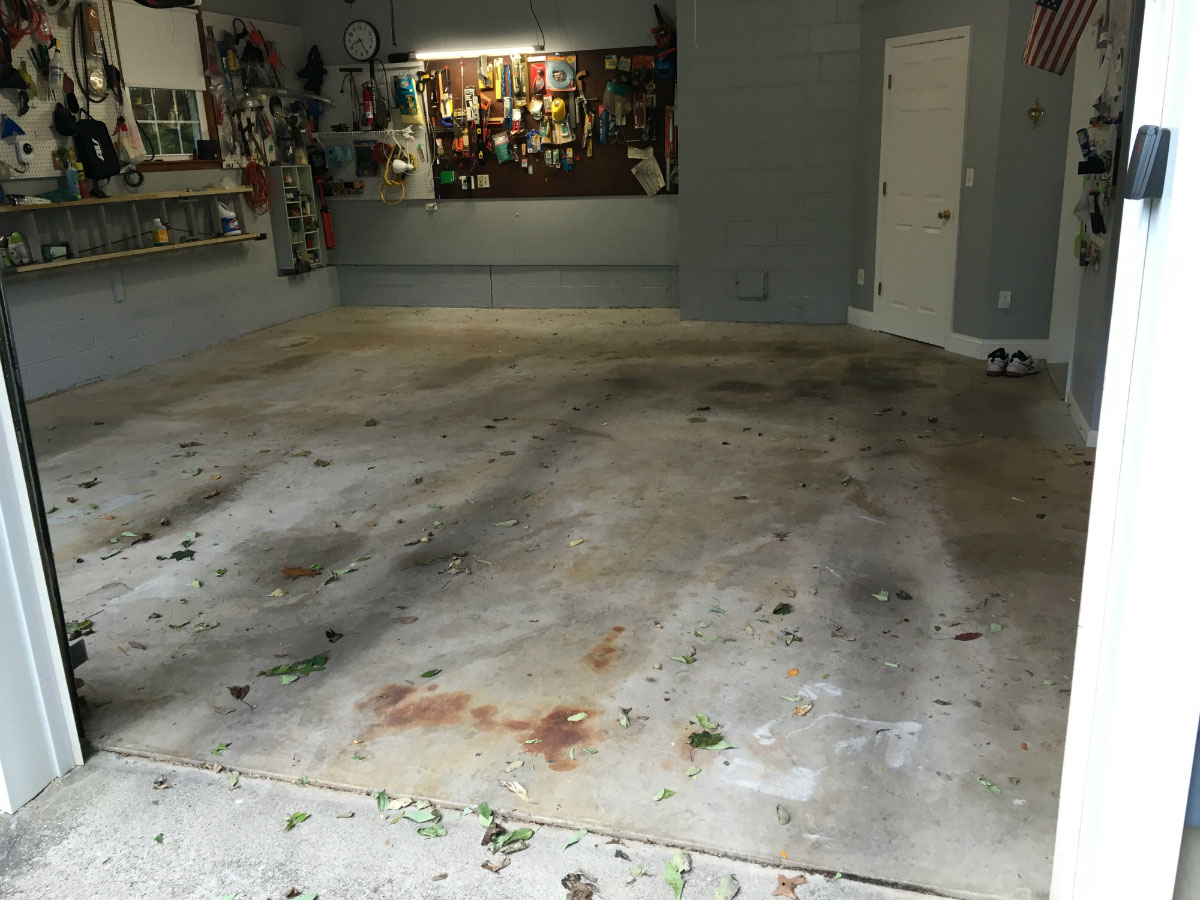 Garage floor epoxy kits epoxy flooring coating and paint armorgarage garage floor before epoxy solutioingenieria Image collections