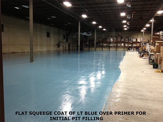 garage epoxy floor light blue
