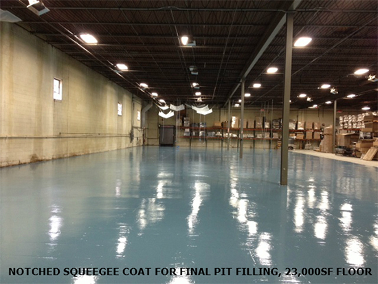 garage epoxy flooring light blue