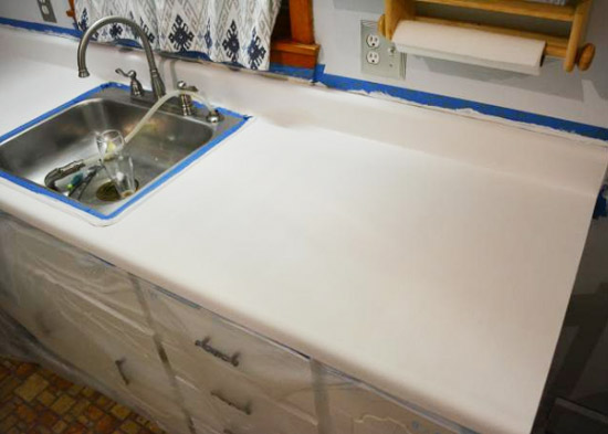 Clear Satin Epoxy Paint For Countertops : Kitchen bathroom countertop refinishing kits armor garage