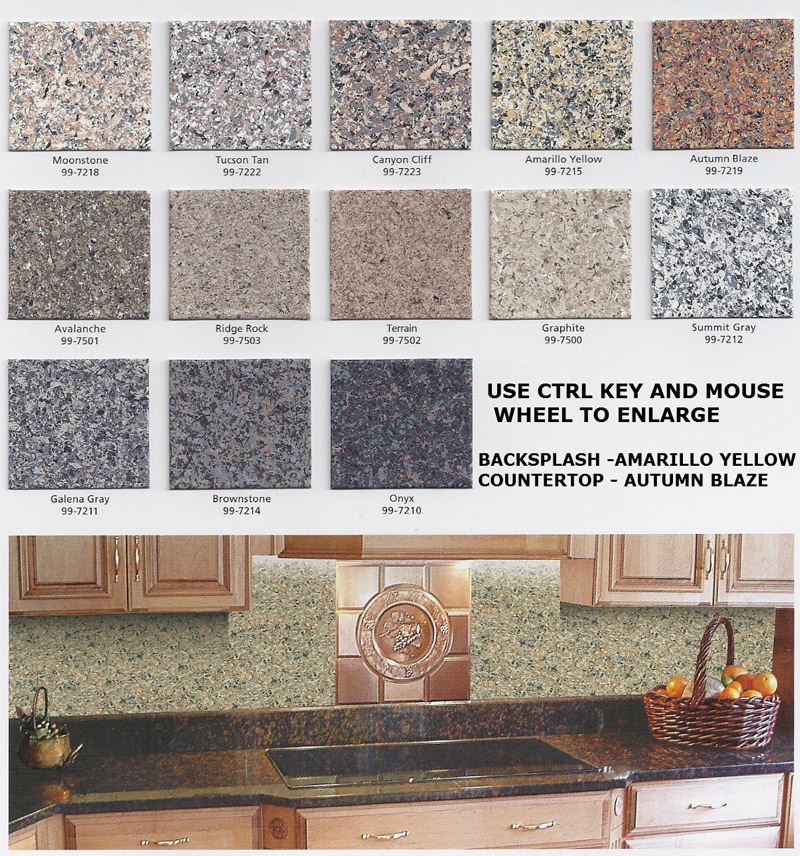 kitchen epoxy countertop color chart